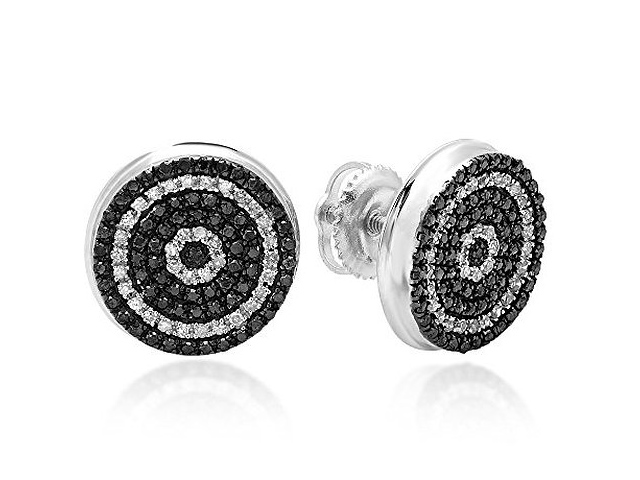 1 carat black diamond earrings