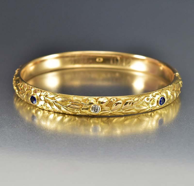 14k gold bangle bracelets