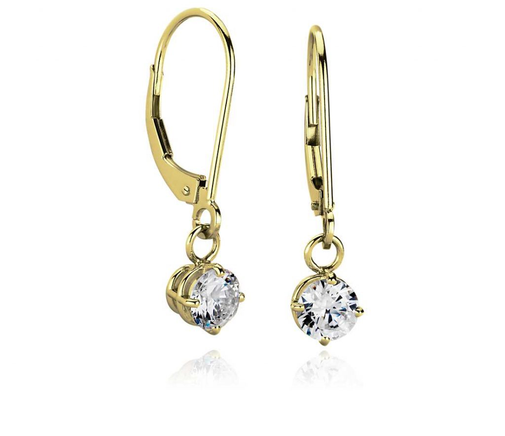 14k gold dangle earrings