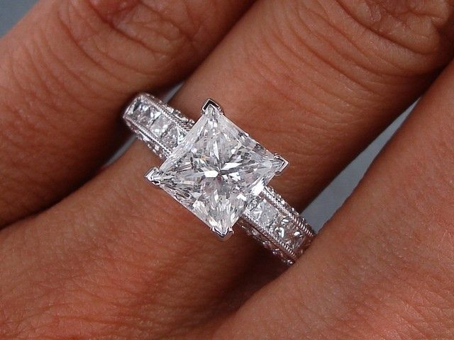2 carat princess cut engagement rings
