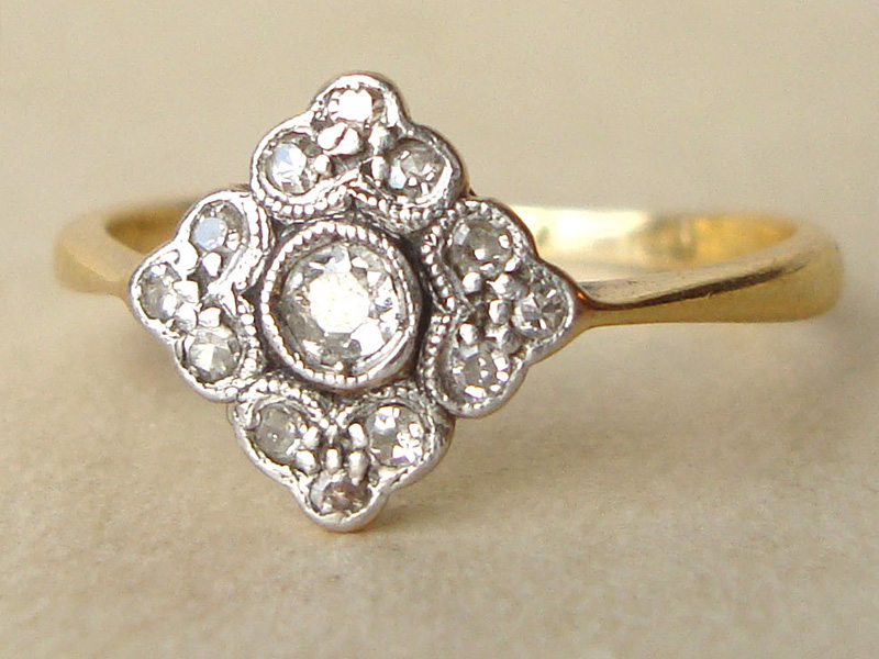 antique engagement rings 1920s