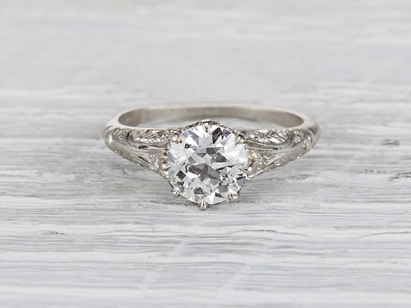 antique engagement rings cheap