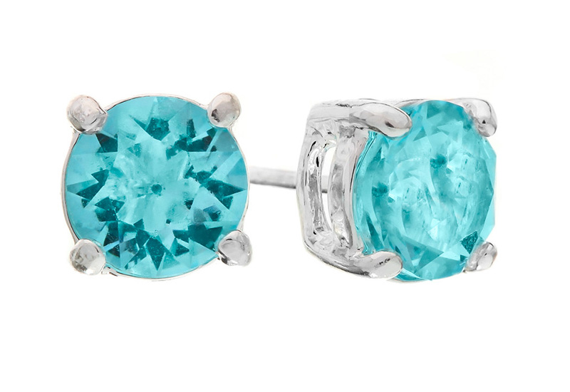 aquamarine earrings studs