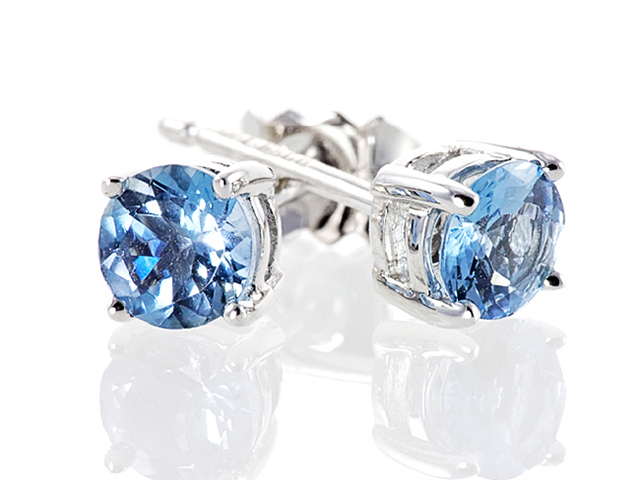 aquamarine earrings white gold
