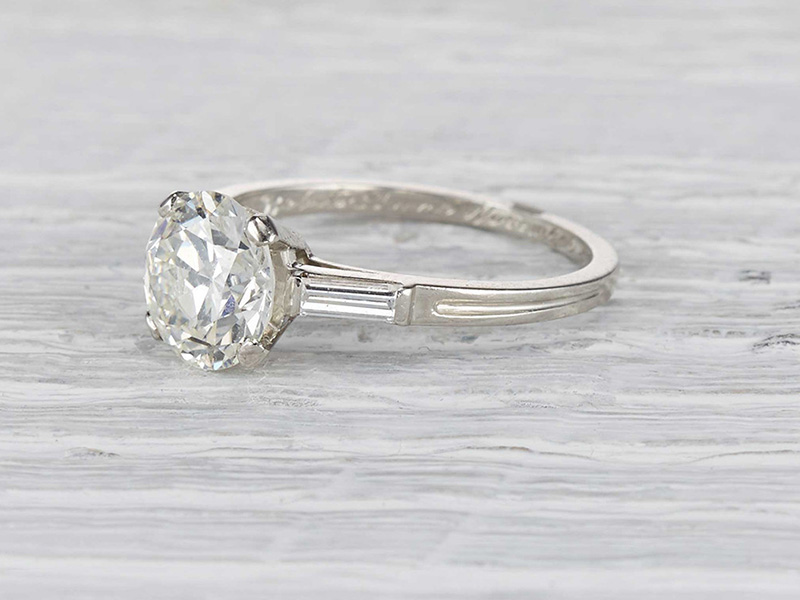 art deco antique engagement rings