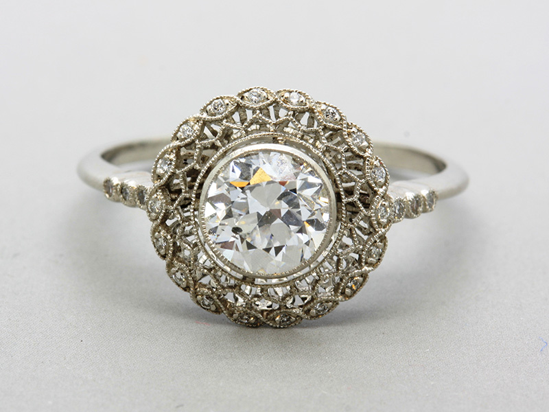 art deco vintage engagement rings
