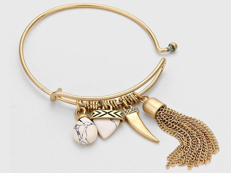 bangle bracelets with charms