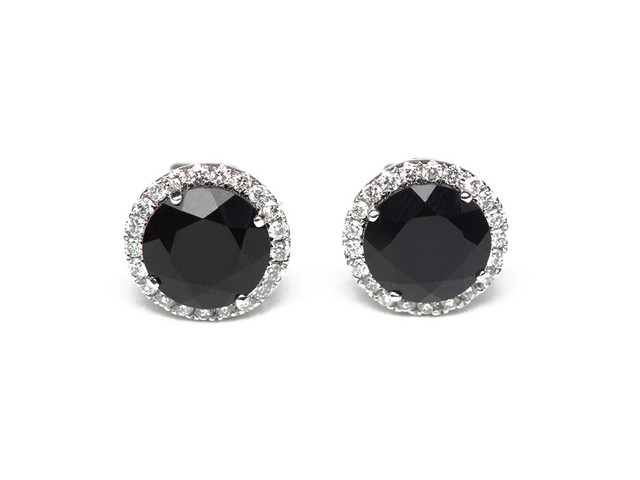 black diamond earrings men's