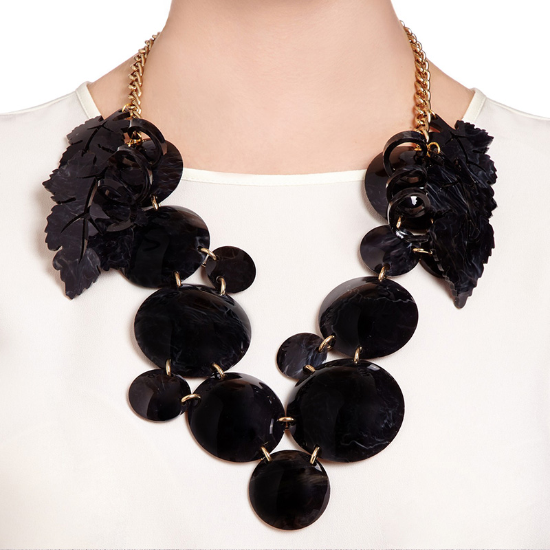 black statement necklaces