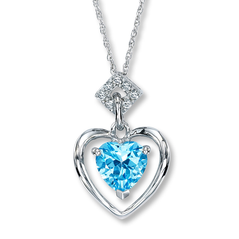 blue diamond necklaces