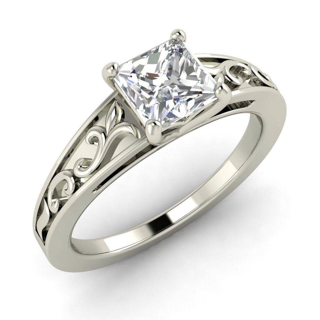 cheap princess cut engagement rings