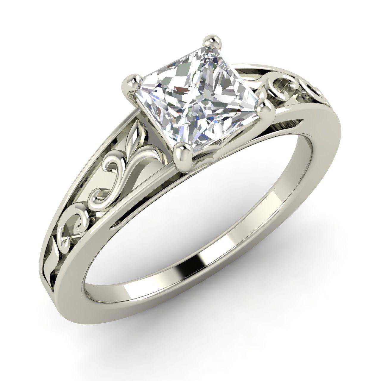 cheap princess cut engagement rings