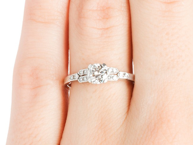 cheap vintage engagement rings