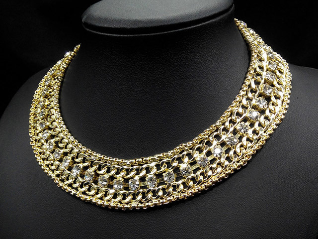 choker necklace gold