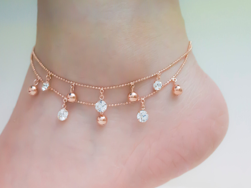 diamond ankle bracelets