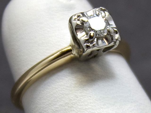 diamond antique engagement rings