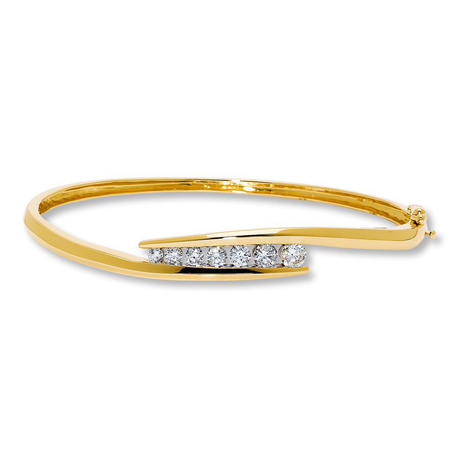 cut ladies gold yellow white princess mainwh diamond bangle bangles bracelet rose