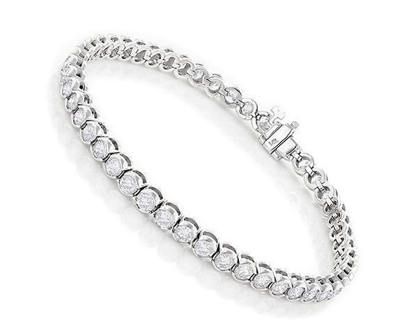diamond tennis bracelet white gold