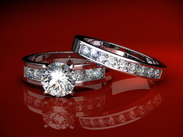 diamond wedding rings sets