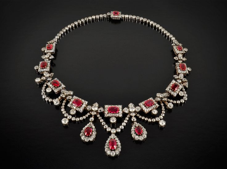 genuine ruby necklace