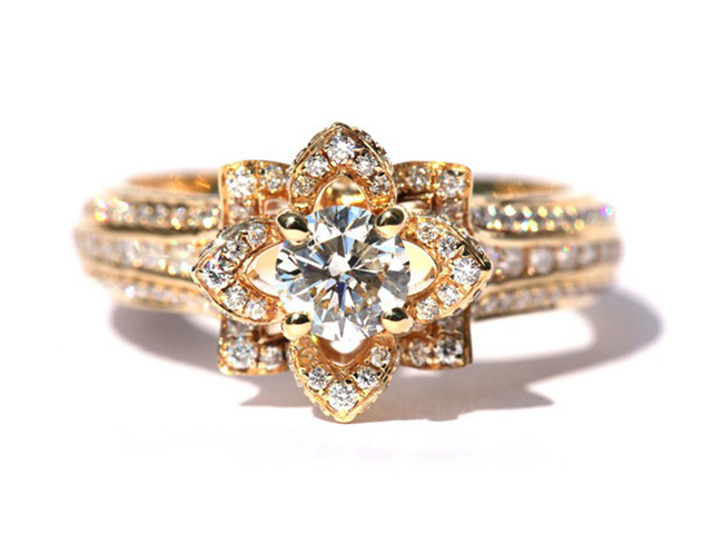 gold antique engagement rings