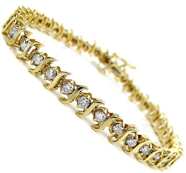 Gold Diamond Tennis Bracelet