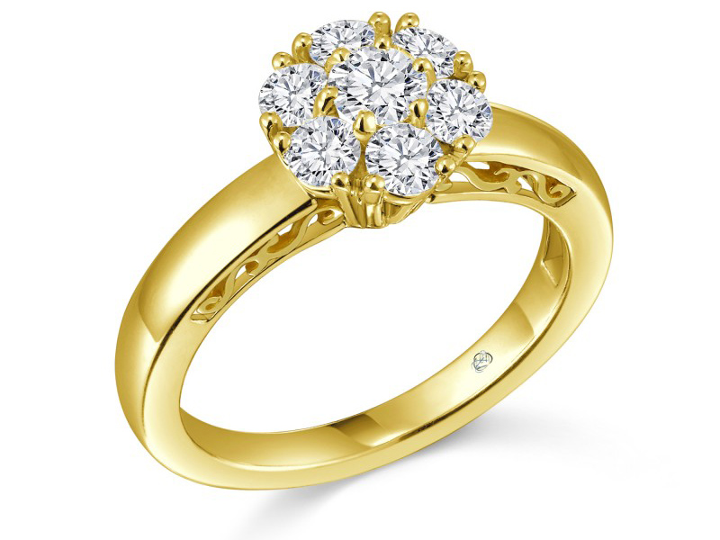 gold diamond wedding rings