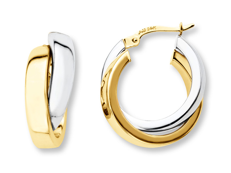 gold hoop earrings for men