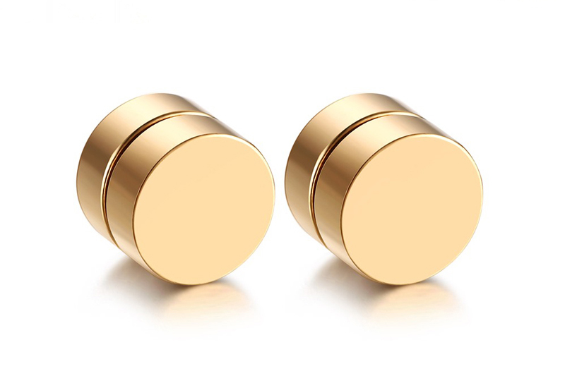 gold magnetic earrings
