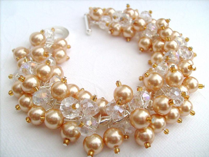 gold pearl bracelet