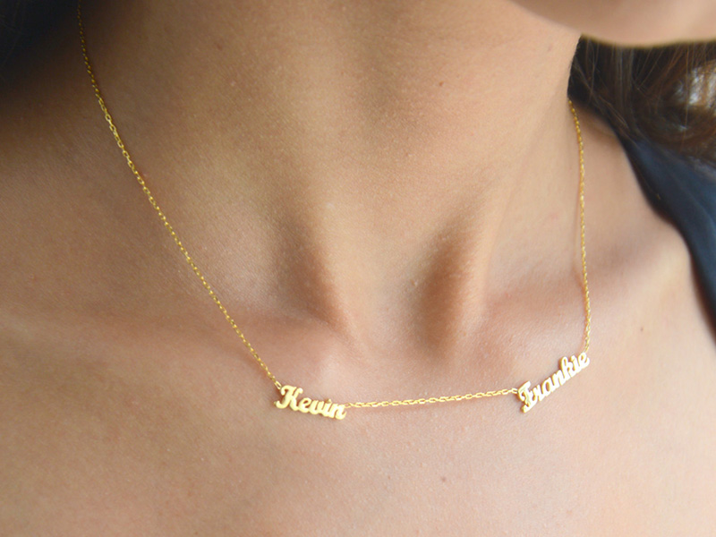 gold personalized name necklaces