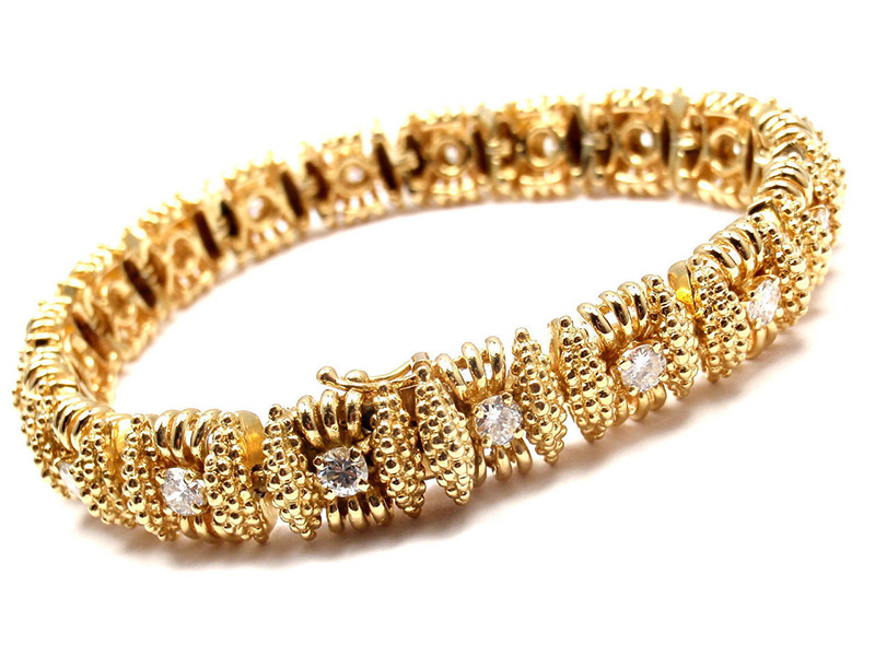 gold tennis bracelet - How to Choose Tennis Bracelet with Diamond ...