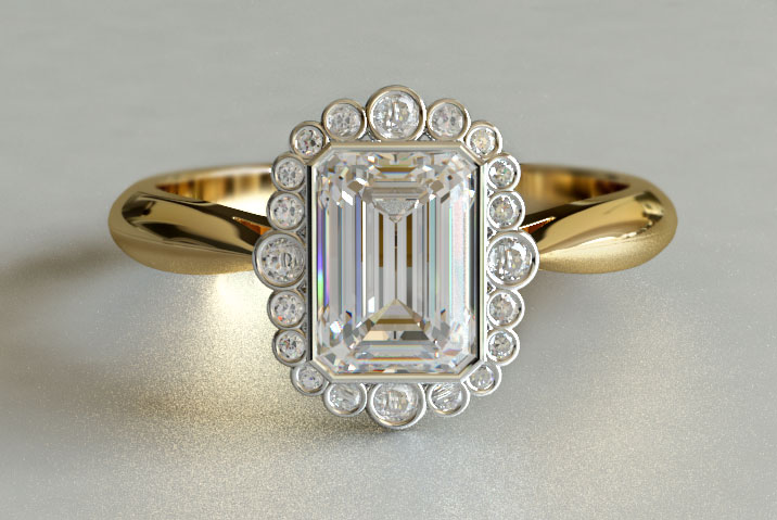 gold vintage engagement rings