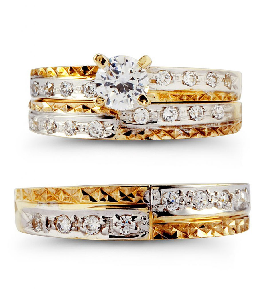 gold wedding rings sets