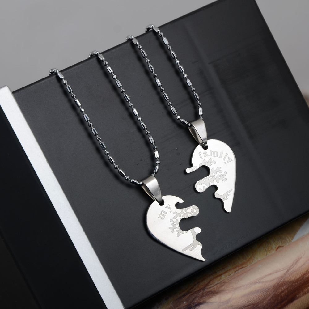 half heart necklaces