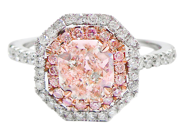 light pink diamond engagement rings