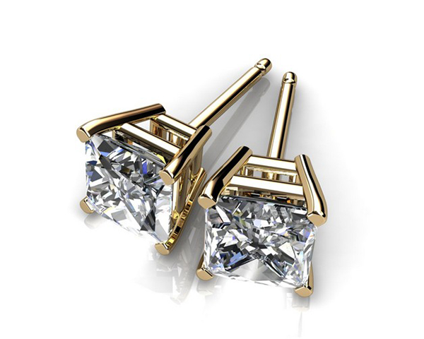 Men S Diamond Stud Earrings Gold