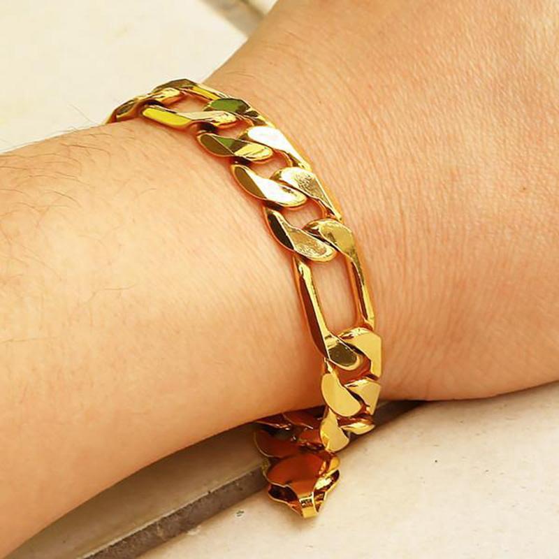 men's gold bracelets 18k