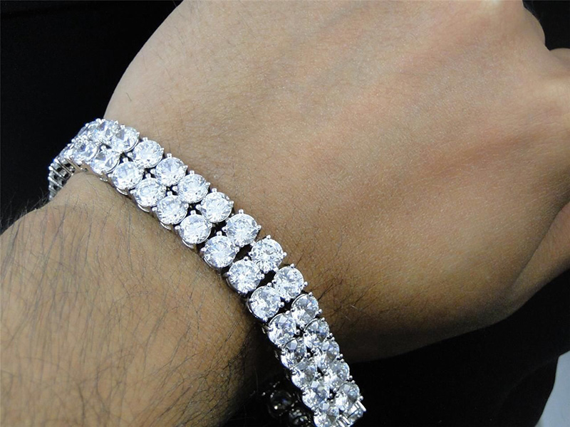 men's gold diamond bracelets