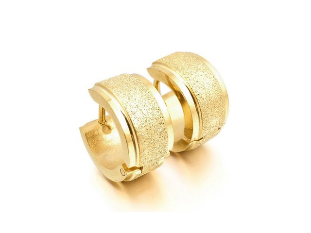 men's gold hoop earrings