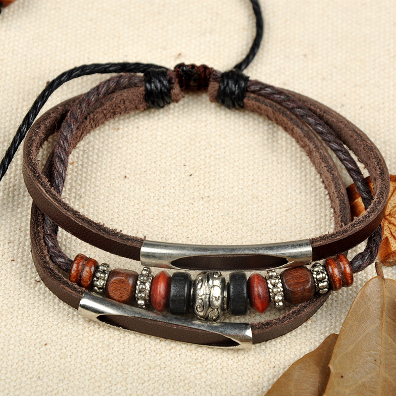men's leather bracelets