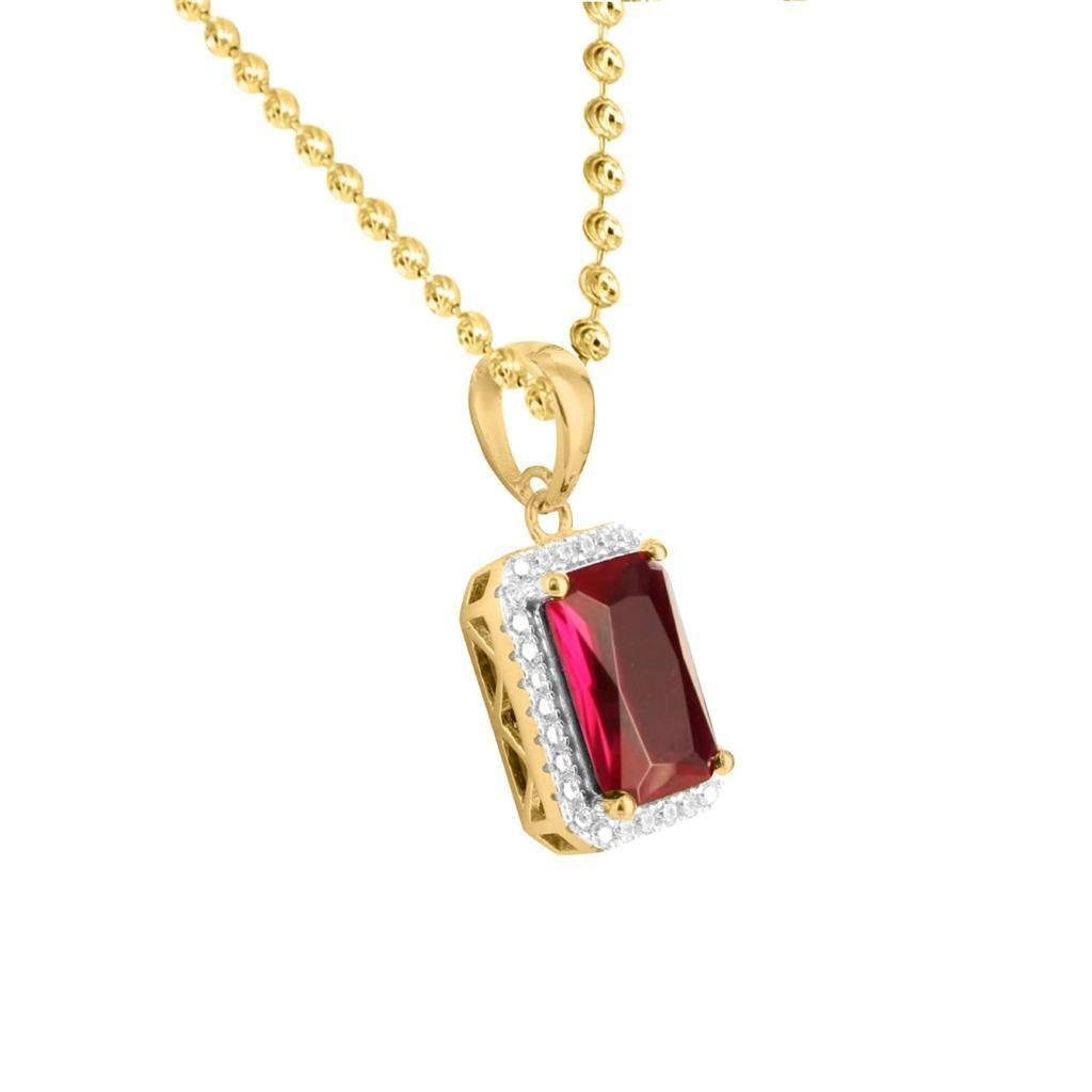 men's ruby necklace