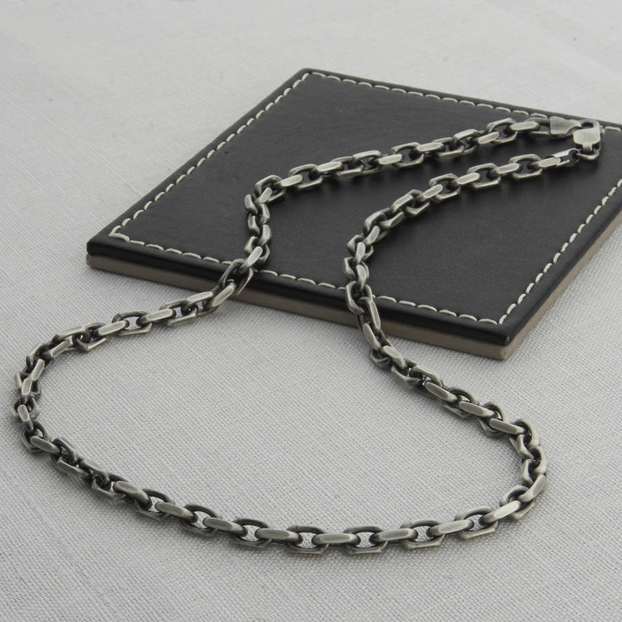 men's sterling silver necklace