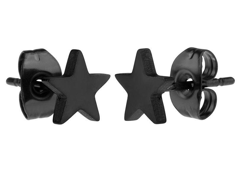 men's stud earrings black