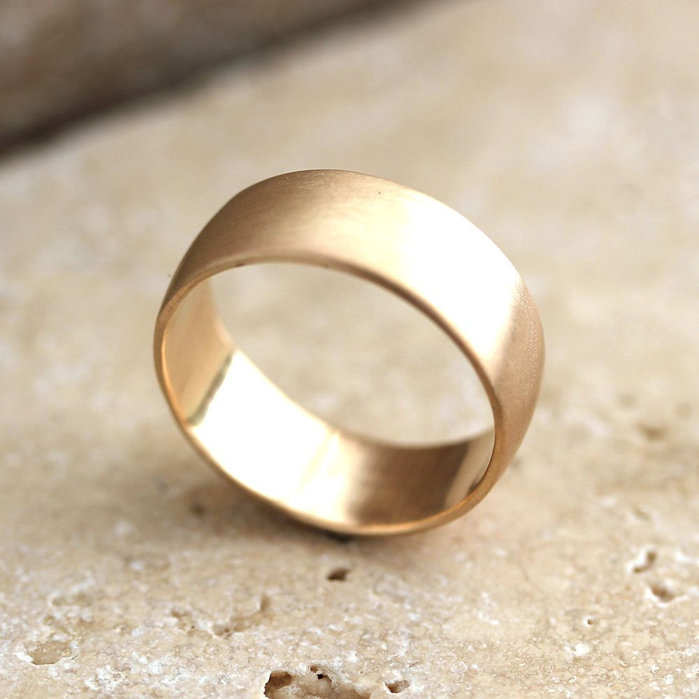 men's wedding rings gold