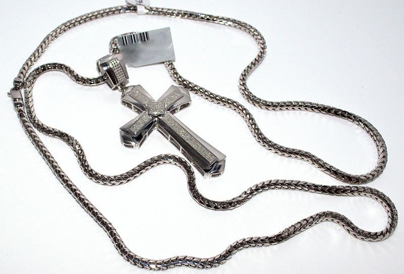 men's white gold necklace