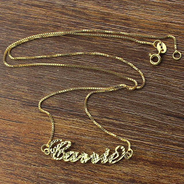 name necklaces gold
