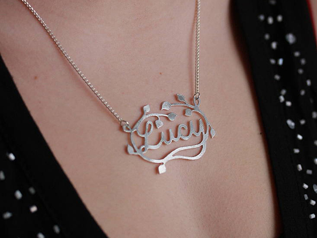 name necklaces silver