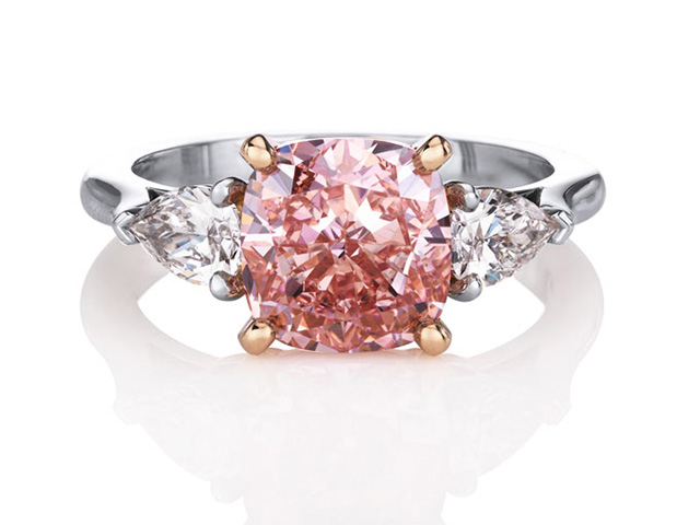 natural pink diamond engagement rings