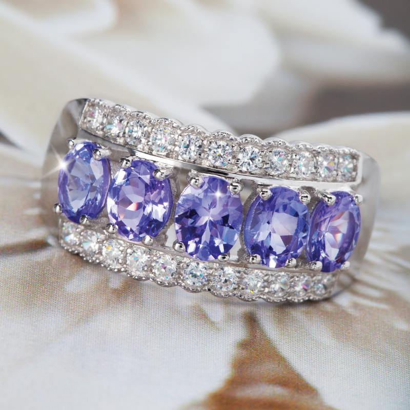 purple tanzanite rings